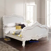 Bespoke Uk Small Double 120x190cm White French Style Rococo Bed Top Quality