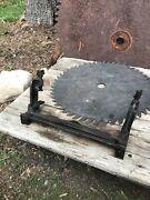 Antique E.c. Stearns Saw Vise Clamp Wood Sharpening Tool Bench Mount