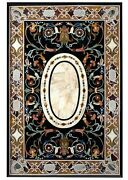 36 X 60 Inch Marble Dining Table Top Mosaic Art Meeting Table For Office Decor