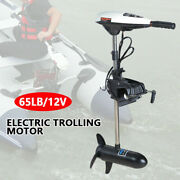 65lbs 12v Heavy Duty Electric Trolling Motor Outboard Engine Fishing Brush Motor