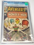 The Avengers 9 Cgc Graded 7.0 1st Appearance And Origin Of Wonderman Kirby 1964