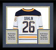Framed Rasmus Dahlin Buffalo Sabres Signed White Jersey And 1st Goal 10-13-18 Insc