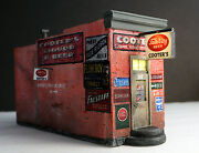 Downtown Deco O On30 Scale Gauge Hydrocal Cooters Liquor Kit.+ 15 Sidewalks