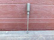 Vintage Large Size Stanley Screwdriver 15 Long With Wood Handle - Usa
