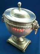 Antique Bowl Urn Dish Silver Plate