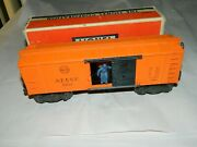 Lionel Vintage 3464 Atsf Operating Box Car, Nice Clean And Undamaged. Ob