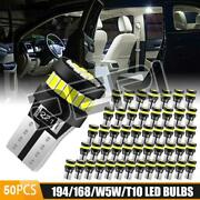 50x 6000k T10 W5w 168 921 192 194 158 Wedge Led License Plate Reverse Light Bulb