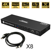 16 Port Kvm Hdmi Switch Switches Box Support 4k@60hz 444 Hdcp2.2 Rs232 Lan