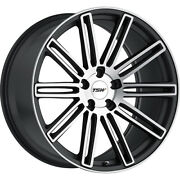 4 Staggered 20x8.5 / 20x10 Tsw Crowthorne Gray 5x120 +35/+40 Wheels Rims