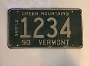 Vermont License Plate 1950 Green Mountains 1334