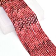 Aaa+ Pink Thulite Gemstone Loose 3mm-4mm Faceted Rondelle Beads   13inch Strand
