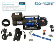 Limitlessandreg Pro Lpr 9.5 Electric Recovery Winch 12v 9500lb Synthetic Rope