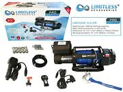 Limitlessandreg Pro Lpr 12.5 Electric Recovery Winch 12v 12500lb Synthetic Rope