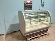 Columbus Commercial Lighted Curved Glass Dry Bakery Merchandiser Display Case