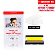 Fits Canon Selphy Cp-760 Cp770 Color Ink 36 Sheets 4x6in Photo Paper Kp-36ip Set