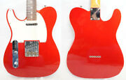 Used 2006-2008 Fender Japan Tl62b/lh Candy Apple Red Cij Telecaster Lefty W/gb