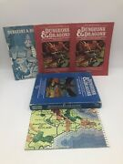 Dandd Lot Of 3 Rule Books And Map With Empty Set 2 Box. Non Matching Set