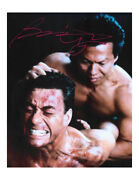 8x10 Double Impact Print Signed By Bolo Yeung 100 Authentic With Coa