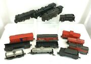 Marx Train Huge Lot 14 Pieces Engines Cars Tanker Caboose Tin O Scale Box Car
