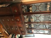 Antique China Cabinet With 4 Drawers And Two Cabinet Style Doors