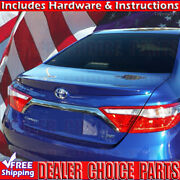 For 2015 2016 2017 Toyota Camry Factory Style Lip Spoiler Wing Unpainted