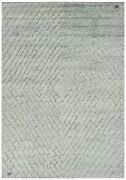 9x12 Modern Silver High-low Hand-knotted Wool Area Rug Contemporary Carpet