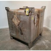 Used 370 Gallon Transstore Stainless Steel Ibc Portable Tote Liquid Container