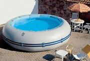 Inflatable 0.9mm Pvc Round Outdoor Patio Above Ground Swimming Pool With Pump