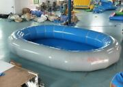 Inflatable 0.9mm Pvc Oval Inground Above Ground Swimming Pool With Pump New