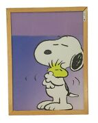 Vintage Snoopy Wall Hanging Fabric Framed