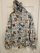 Rare Dtek Jeans All Over Print Hoodie Vintage Mid 2000andrsquos Xlarge Over Sized