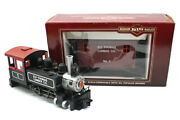 Ely Thomas G Scale Locomotive, 2 Flat Cars, Logging Caboose 4, By Bachmann