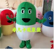 Capsules Mascot Costume Suit Cosplay Party Xmas Dress Outfit Halloween Adult New