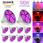 Dimmable E27 100w Led Grow Light Full Spectrum Hydroponic Lamp Bulb Indoor Plant
