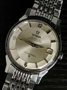 1966 Omega Constellation Silver Pie Pan 168005 Sgr Serviced Andomega561 Vintage Watch