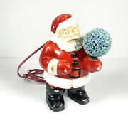 Vintage Santa Blow Mold Holding Snowball Frosted Light - Royal Lights Co.