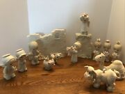 Vintage Precious Moments Figurines Nativity Wall Animals Assorted Lot 5andrdquo