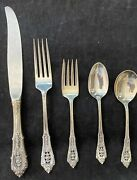 Rose Point Wallace Sterling Silver 4 Settings 5 Pieces Per Setting 20 Pieces