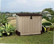 Large Garden Storage Shed Ketter Stylish Wood-look Texture 4.3 X 2.5 Lightweight