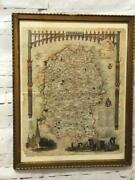 Antique Map Of Wiltshire By Thomas Moule Circa 1830 Framed [6997]