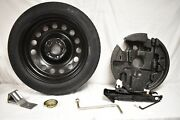 04-10 Bmw E60 E61 17x4 Steel Spare Tire Wheel Donut W/ Jack And Tool Kit D120