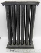 Now Reduced Rare Large 12 Tube 2x6 Colonial New England Handmade Tin Candle Mold