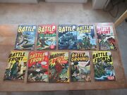 Lot Of 10 Atlas 1950's Golden Early Silver Age War Comics Battle Ground Marines