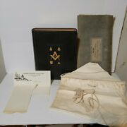 Free Mason Bible Apron Personalized Letter History Collectible