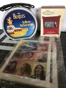 Beatles Tanzania And Chad Stamps, Yellow Submarine Ornament And Collectible Tin