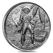 Privateer Captian2oz.999 Fineultra High Reliefsilverair-titefree Shippin