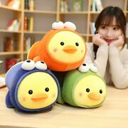 Lovely Lying Duck Cute Yellow Duck Frog Stuffed Down Cotton Plush Toys For Child