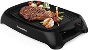 Smokeless Electric Grill 1000w Bbq Grill Non Stick Surface Oil Drip Pan Black