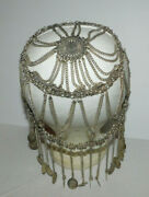 Very Neat And Heavy Chain Headdress Headpiece Flapper Jewelry With Faux Coins
