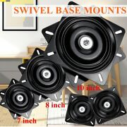 7/8/10in 360 Degree Square Seat Swivel Base Mount Plate For Bar Rotary Rack